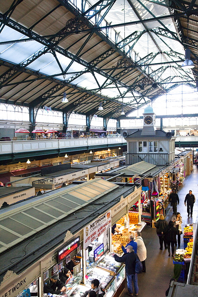 Cardiff Central Market, a Victorian-era structure built in 1891, Cardiff, Wales, United Kingdom, Europe - 825-180