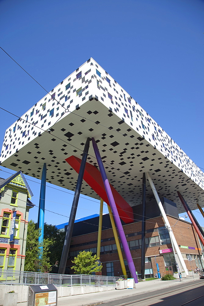 OCAD (Ontario College of Art and Design) building, school of art, McCall Street in downtown Toronto, Ontario, Canada, North America - 825-213