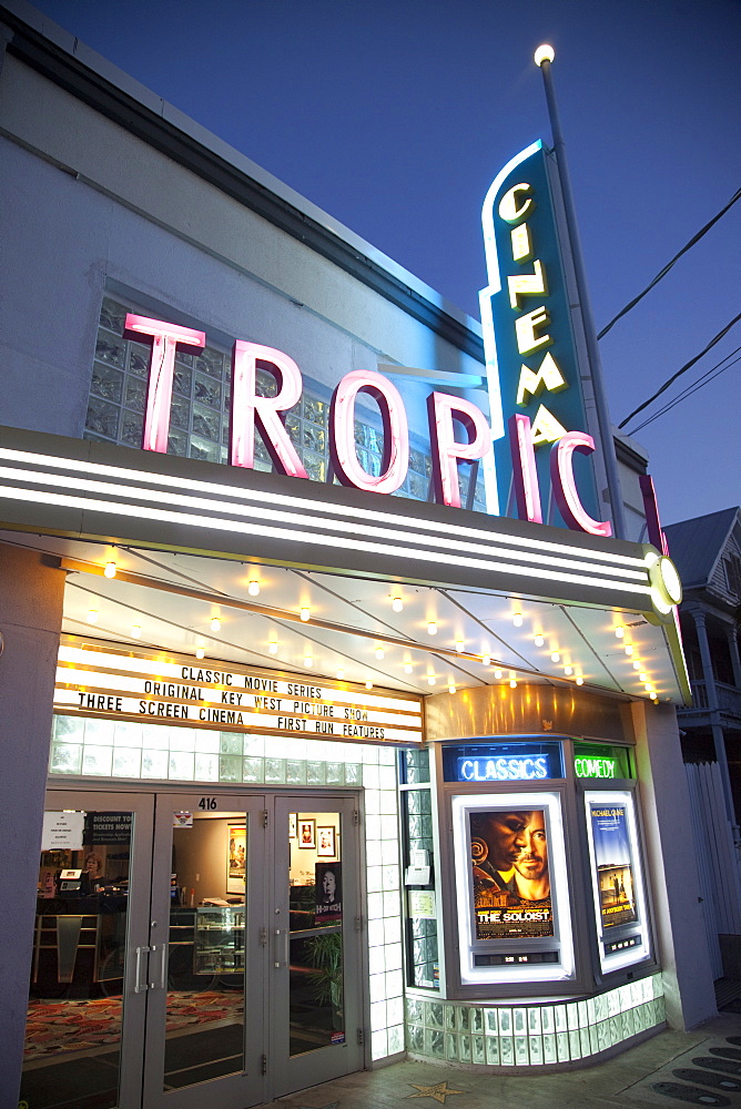 Tropic Cinema, an art deco building in Key West, Florida, United States of America, North America