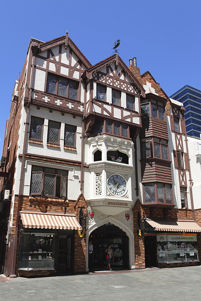 London Court, a mock-Tudor shopping arcade, built 1937, Hay Street, Perth, Western Australia, Australia, Pacific