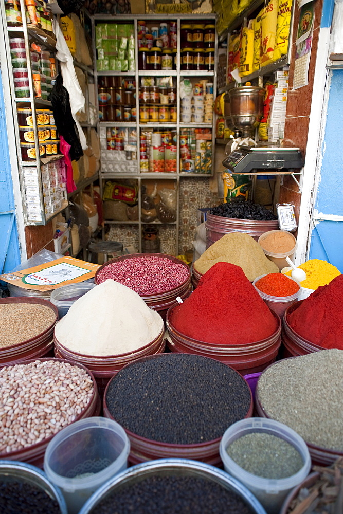 Grocery, street market, Medina, Fez, Morocco, North Africa, Africa