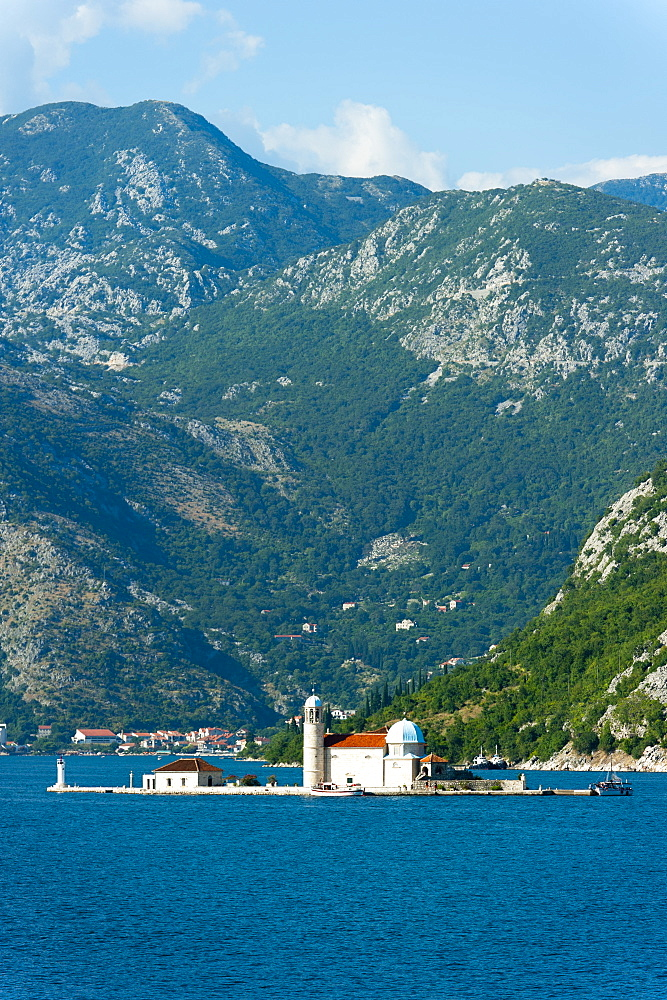 Gospa od Skrpjela (Our Lady of the Rock) island, Bay of Kotor, UNESCO World Heritage Site, Montenegro, Europe - 827-405