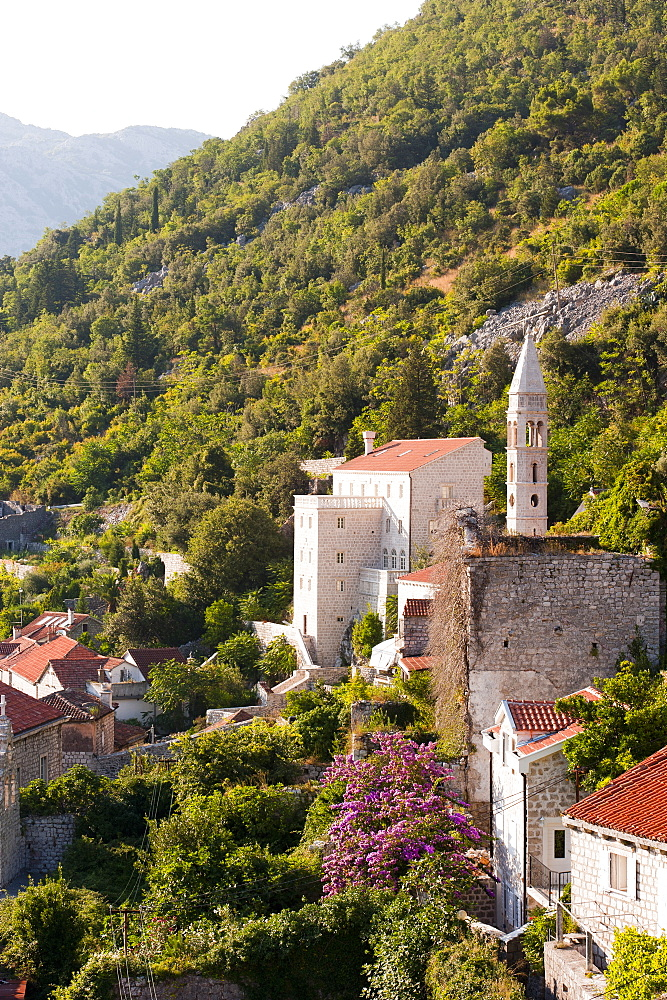 Church of Our Lady of Rosary, Perast, Bay of Kotor, UNESCO World Heritage Site, Montenegro, Europe