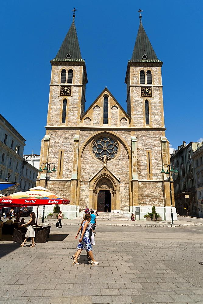 Sarajevo Catholic Church, Sarajevo, Bosnia and Herzegovina, Europe - 827-454