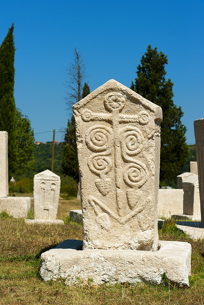 Stecak necropolis of Radimlja, located near Stolac, Bosnia and Herzegovina, Europe - 827-481