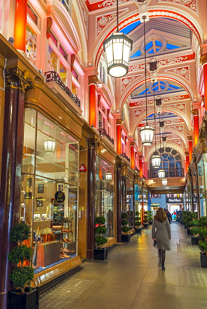 UK, England, London, Old Bond Street, The Royal Arcade