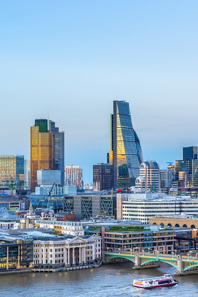 UK, England, London, City of London, Skyline, Tower 42 (formerly Nat West Tower) and Cheesegrater
