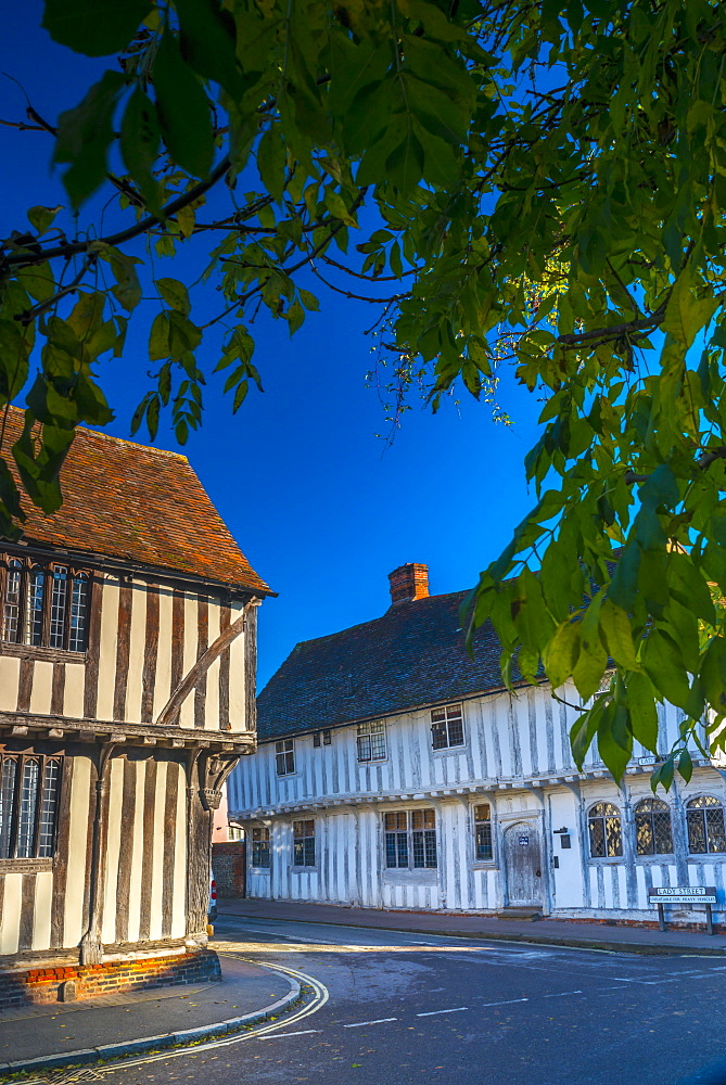 Corner of Water Street and Lady Street, Lavenham, Suffolk, England, United Kingdom, Europe - 828-1027