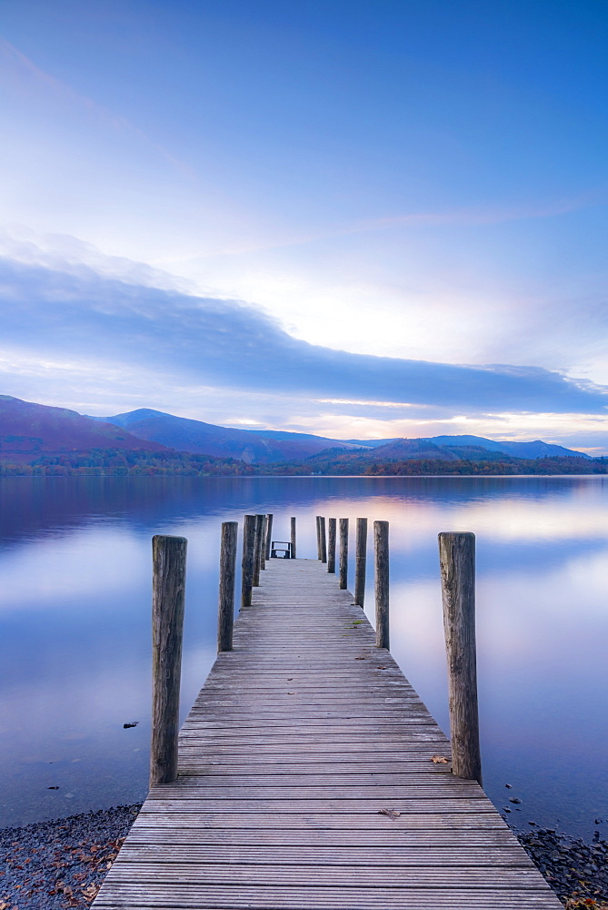 Ashness Jetty, Derwentwater, Keswick, Lake District National Park, Cumbria, England, United Kingdom, Europe - 828-1045