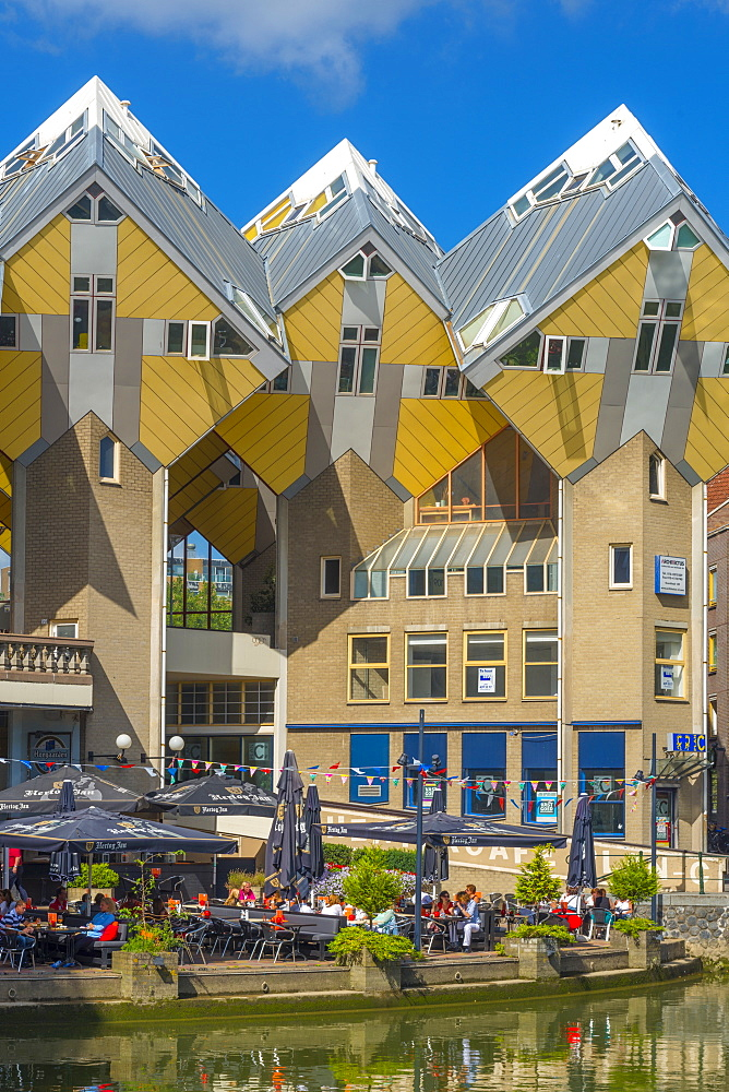 Cube houses (Pole Houses) (Tree Houses), Kubuswoningen, Rotterdam, South Holland, The Netherlands, Europe - 828-1093