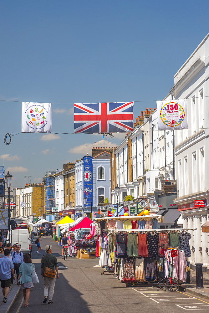 Portobello Market, Portobello Road, Kensington and Chelsea, London, England, United Kingdom, Europe - 828-1111