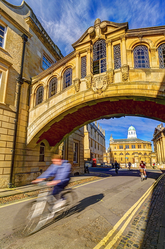 New College Lane, Hertford College, Bridge of Sighs (Hertford Bridge), Oxford, Oxfordshire, England, United Kingdom, Europe - 828-1155
