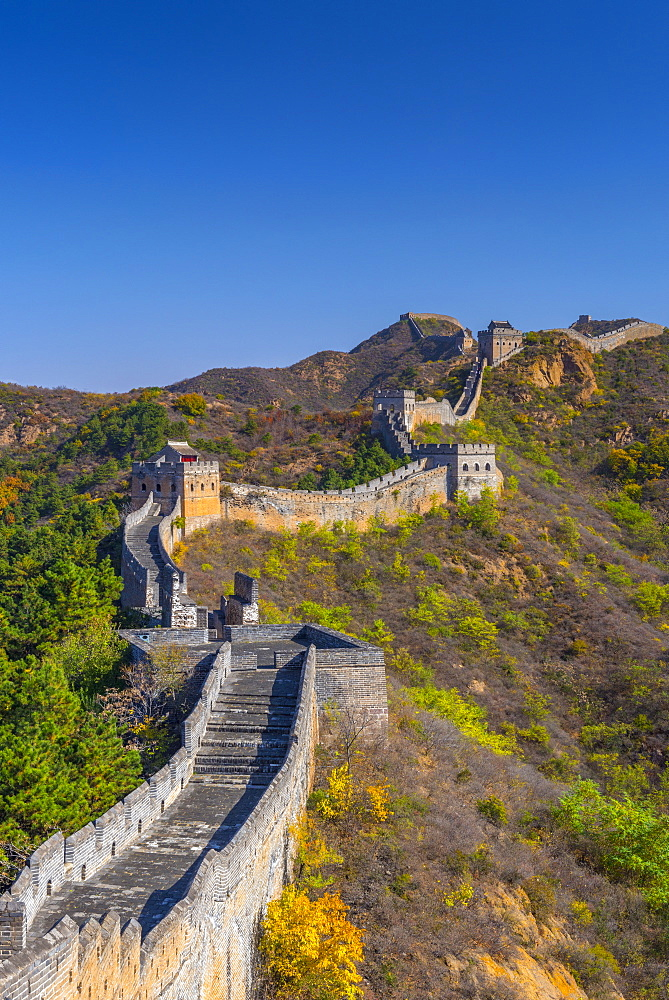 Great Wall of China, UNESCO World Heritage Site, dating from the Ming Dynasty, Jinshanling, Luanping County, Hebei Province, China, Asia