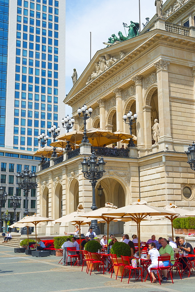 Alte Oper (Old Opera House), Frankfurt am Main, Hesse, Germany, Europe