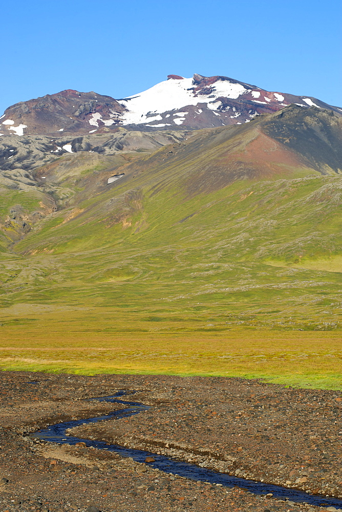 Snaefellsjokull, 1446m, in Snaefellsjokull National Park northwest of Reykjavik in the west, Iceland, Polar Regions