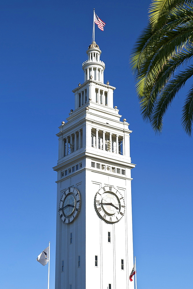 Clock tower of the San Francisco Ferry Building in San Francisco, California, United States of America, North America