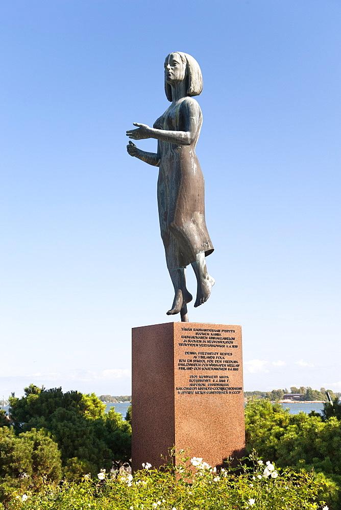 The Rauhanpatsas (Statue of Peace) in Helsinki, Finland, Scandinavia, Europe