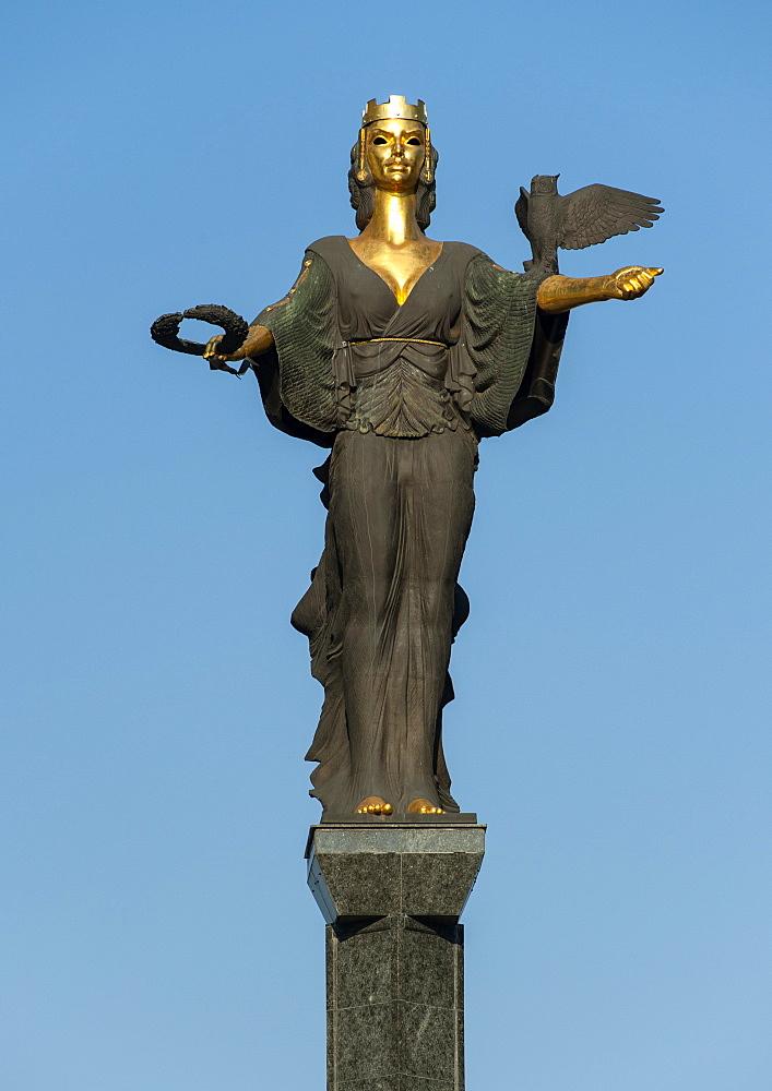 The Statue of Sveta Sofia (St. Sofia) in Sofia, the capital of Bulgaria, Europe