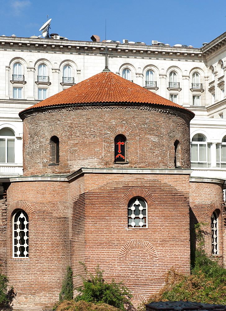 The Church of St. George (the Rotunda), considered the oldest building in Sofia, the capital of Bulgaria, Europe