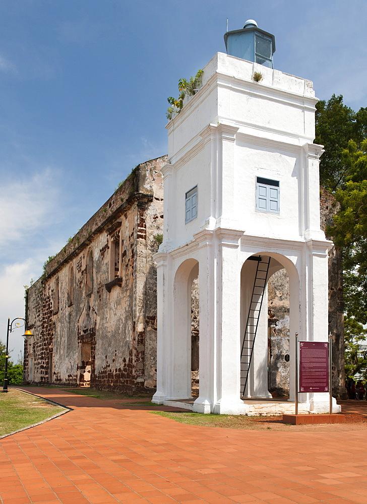 St. Paul's Church on a hilltop in Malacca, Malaysia.