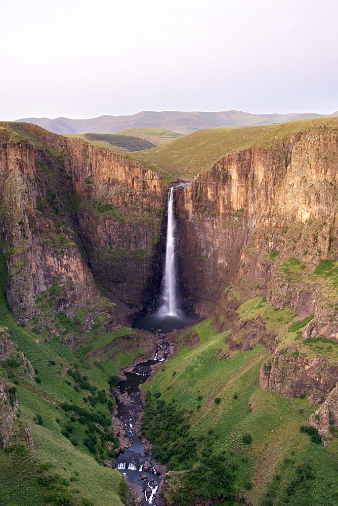 The Maletsunyane Falls, the highest waterfall in Southern Africa with a single drop of 192 metres, central highlands, Lesotho, Africa