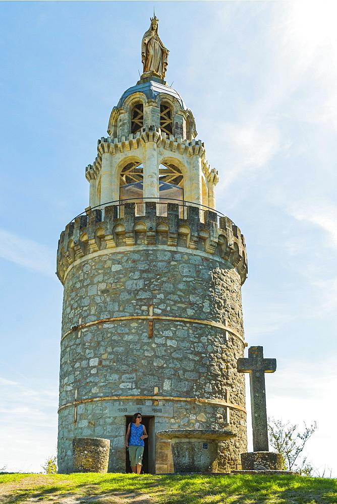 La Vierge de Monbahus Tower of The Virgin (late 19C), a prominent landmark & viewpoint. Monbahus; Cancon; Lot-et-Garonne, France