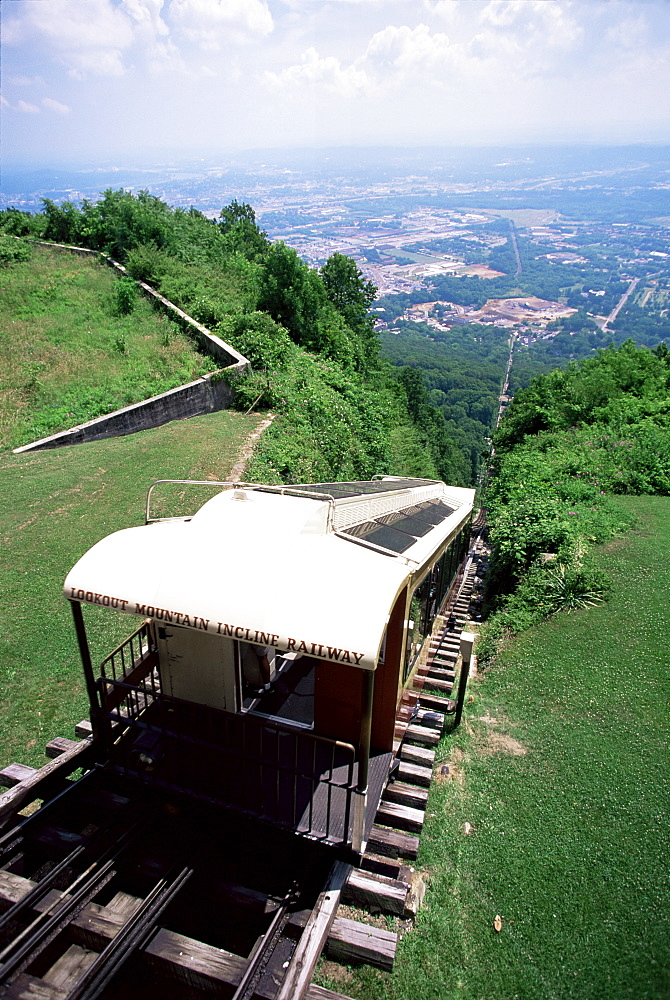 Lookout Mountain Incline Railway, the world's steepest passenger line, Chattanooga, Tennessee, United States of America, North America