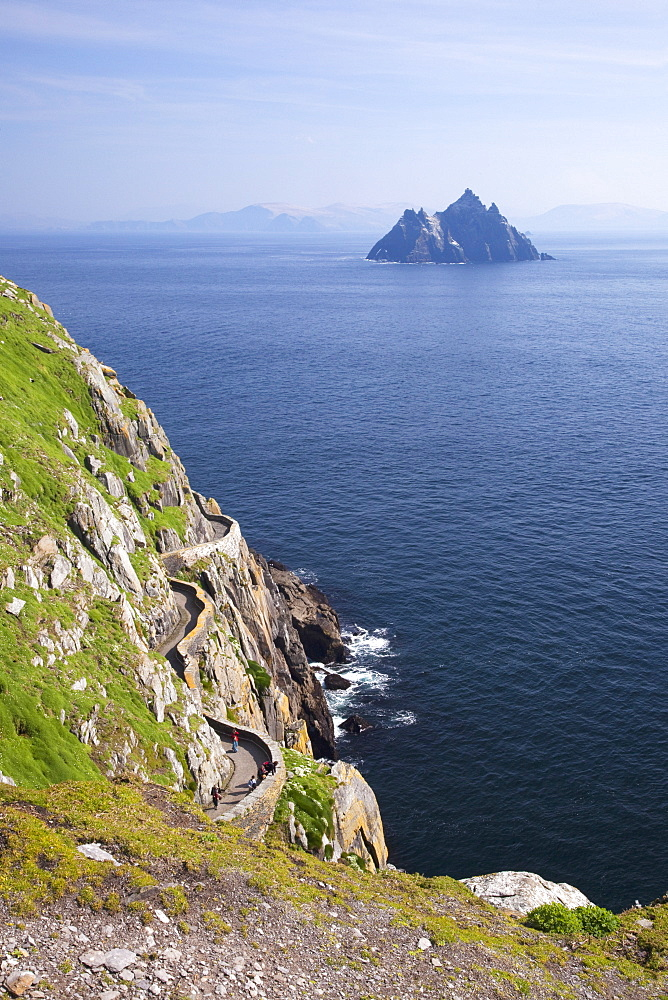 Little Skellig from Skellig Michael, County Kerry, Munster, Republic of Ireland, Europe