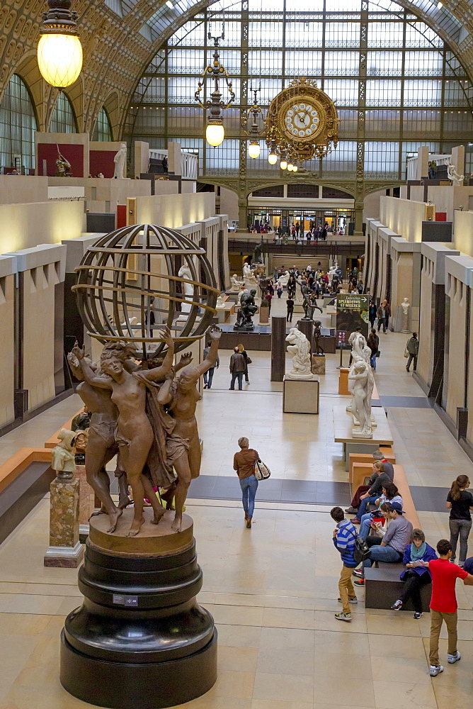 Interior of Musee D'Orsay Museum and Art Gallery, Paris, France, Europe - 831-1510
