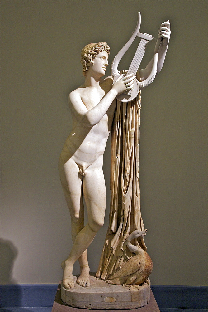Marble sculpture of Pothos, 2nd century AD, National Archaeological  Museum, Naples, Campania, Italy, Europe