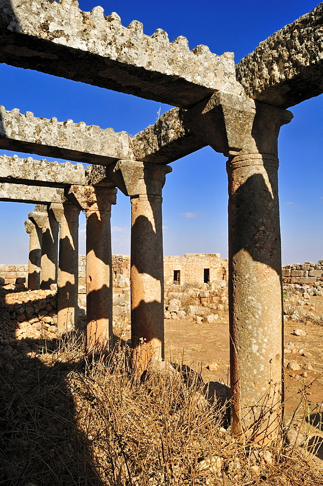 Byzantine ruin at the archeological site of Ruweiha, Dead Cities, Syria, Middle East, West Asia