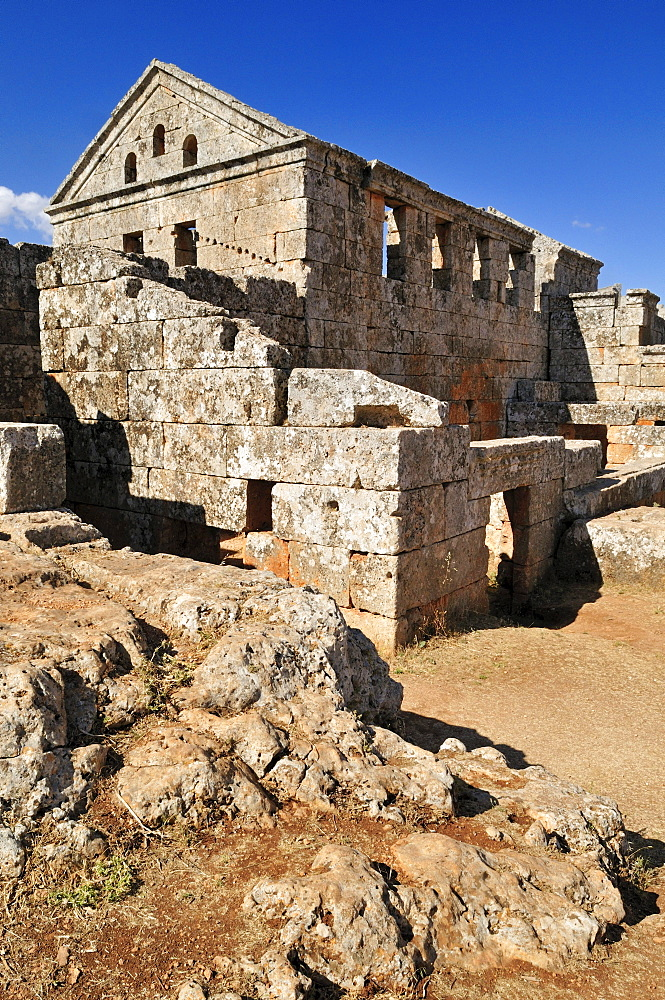 Ruin of a Byzantine bath at the archeological site of Serjilla, Dead Cities, Syria, Middle East, West Asia