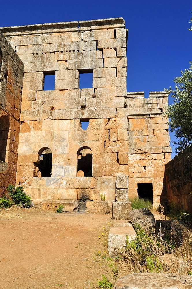 Byzantine church ruin at the archeological site of Al-Bara, Dead Cities, Syria, Middle East, West Asia