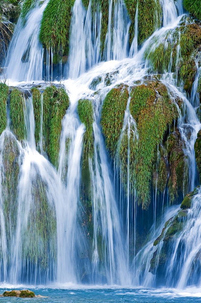 Waterfalls, Krka National Park, Sibenik-Knin County, Croatia, Europe