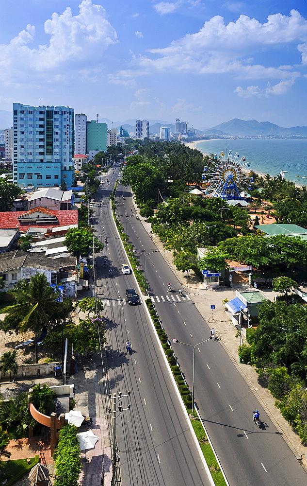 Overlooking the main street of Nha Trang, Vietnam, Southeast Asia