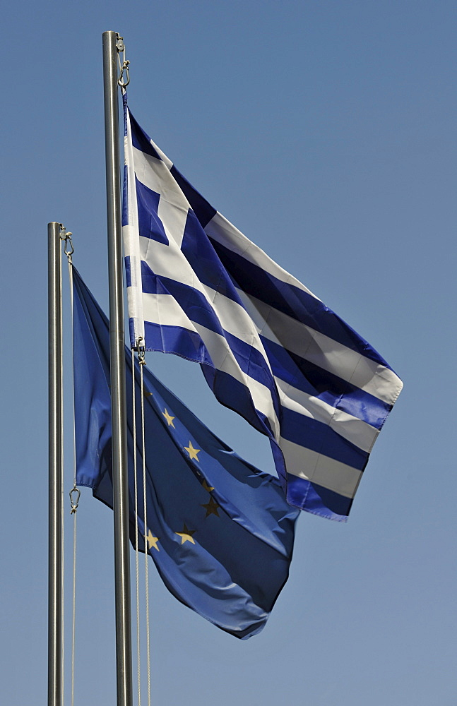 Flags of Greece and Europe