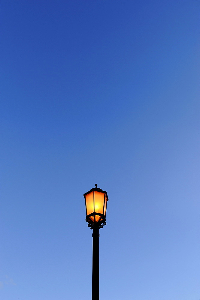 Lantern, magic hour