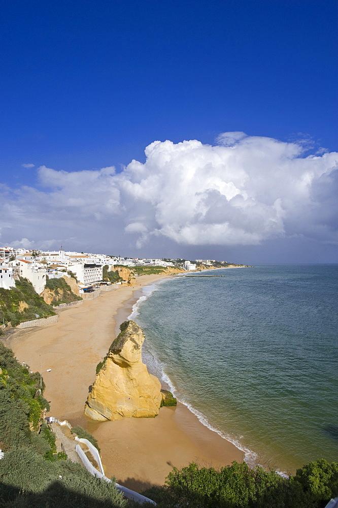 Cityscape with beach, Albufeira, Algarve, Portugal, Europe