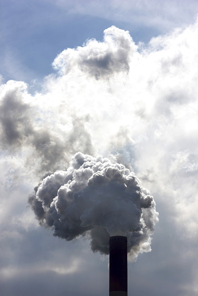 Industrial chimneys, exhausts, Germany, Europe
