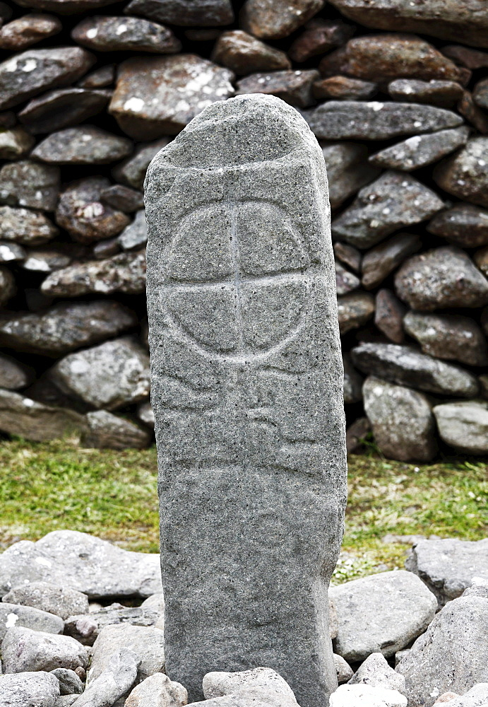 Pillar Stone, Pillarstone, Gallarus Oratory, Dingle Peninsula, County Kerry, Ireland, British Isles, Europe