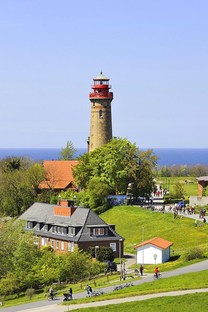 Tourist area with the lighthouse, 35 metres, Cape Arkona, Ruegen Island, Mecklenburg-Western Pomerania, Germany, Europa