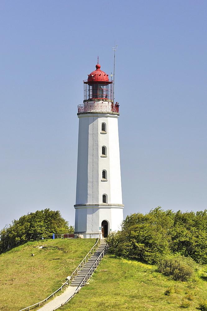 Dornbusch lighthouse, 72 metres, Hiddensee Island, district of Ruegen, Mecklenburg-Western Pomerania, Germany, Europa