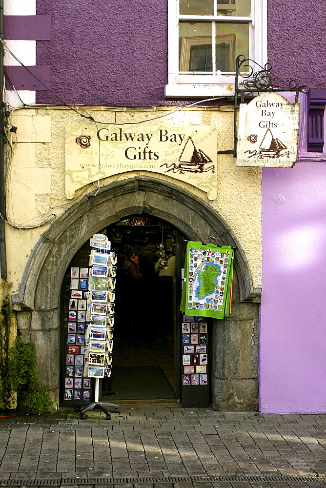 Galway Bay Gifts shop frontage, City of Galway, Republic of Ireland, Europe