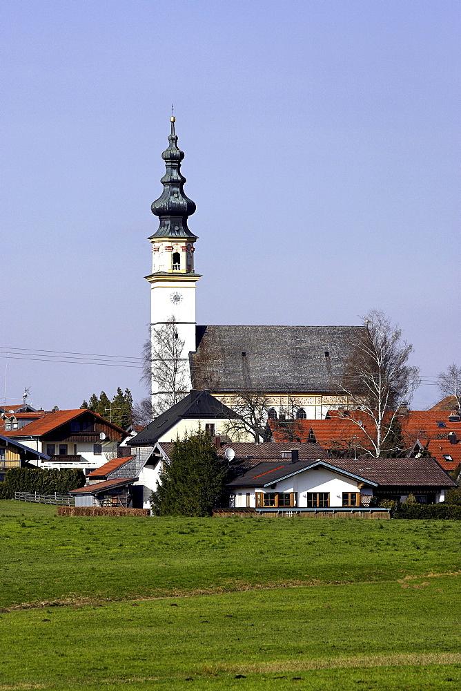 Pilgrimage church Saint Leonard am Wonneberg, Chiemgau, Upper Bavaria, Germany, Europe