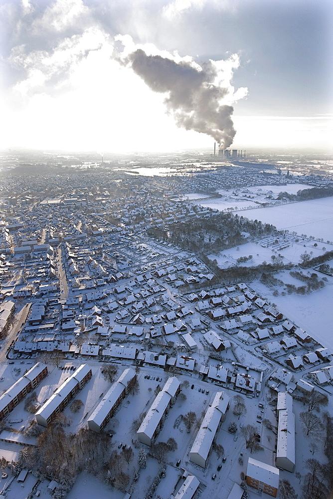 Aerial view, Gersteinwerk power plant, Hamm, Ruhr area, North Rhine-Westphalia, Germany, Europe
