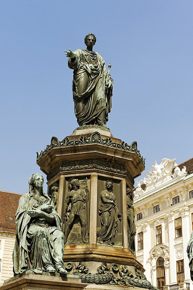 Hofburg Palace, inner courtyard, Amalienburg wing, monument to Franz Joseph I of Austria, 1st district, Vienna, Austria, Europe