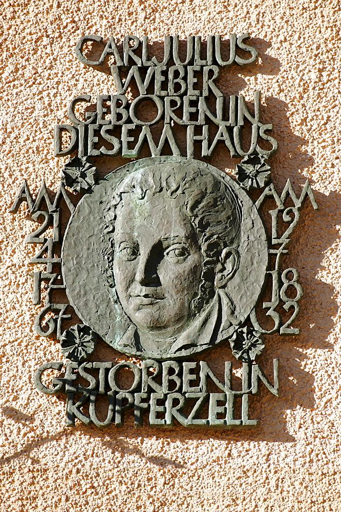 Town Hall, birth place of Karl Julius Weber, 1767-1832, satirist, Langenburg an der Jagst, Baden-Wuerttemberg, Germany, Europe