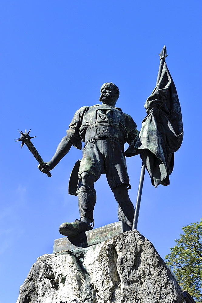 Monument, Smith of Kochel, Bavaria, Germany, Europe