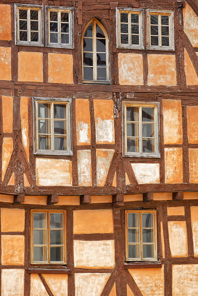 Historic half-timbered house, detail, Eppingen, Baden-Wuerttemberg, Germany, Europe