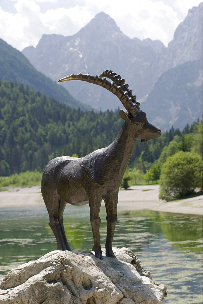 Capricorn sculpture at Lake Jasna near Kranjska Gora - Slovenia